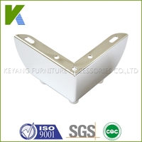 China Chrome Metal Sofa Legs With The White Plastic Particles KYE007-1
