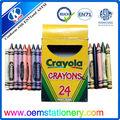 Popular jogo do pastel/de tamanho normal giz de cera set/estudante crayon conjunto