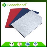 Greenbond color chart decorative interior wall cladding aluminum composite sheet