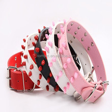 Colorful Spikes Studded Rivets Leather Dog Pet Collars Mixed Colors