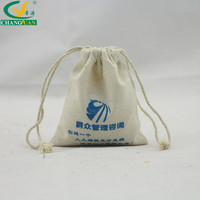 100% cotton canvas promotional bags drawstring