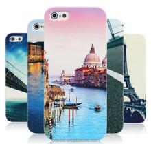 Natural scenery art painting plastic phone case for iphone 6 plus case custom .