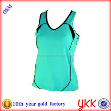 100% polyester ladies running wear sports tank top women quick dry vest