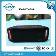 wireless middle size USB SD waterproof mini bluetooth speaker think box