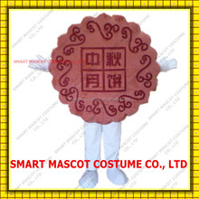 Customized the mid-autumn festival moon cake mascot costume in red for sale moon cake mascot costume