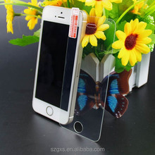transparent tempered glass anti-glare screen protector for iphone 5