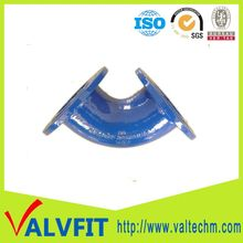 Sand Casting Ductile Iron 45 deg ISO2531 double flange end elbow