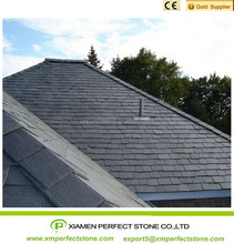 Rectangle black slate roof natural split slate tile