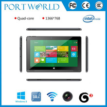 Quad core tablet pc windows Z3735G support 3G WCDMA dongle tablet
