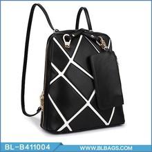 fresco diseño elegante de cuero de la pu mochila de compras en línea