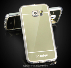 For samsung galaxy s6 edge mirror case back cover, mirror shell case