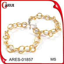 Wholesale gold earrings designs for girls women earring circle earrings saudi gold jewelry