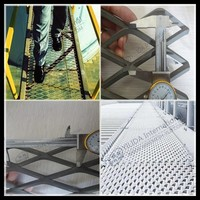 hot dipped galvanized diamond expanded metal mesh for walkway (real factory )