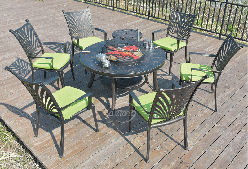 derong leisure garden charcoal outdoor bbq grill table set bbq rh alibaba com BBQ Grill Side Table Bar B Q Tables