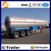 2015 new factor supply good performance 58.5m3 LPG tank semi trailer