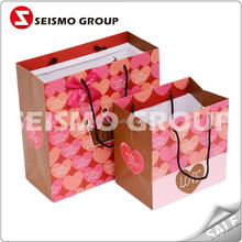 2012 shopping paper bag natural kraft paper bag with zip lock