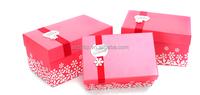 custom printed pink christmas gift box