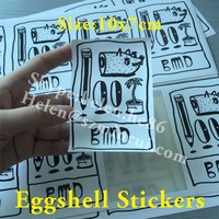 Best Price Custom Printed Vinyl Eggshell Stickers,Plastic White Egg Shells OEM Print With Your Design
