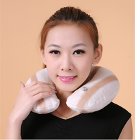 Soft U shape Pillow Neck Protection PVC Inflatable Pillow For Travel Car