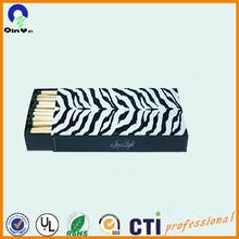 brand customized gift matchboxes zebra pattern
