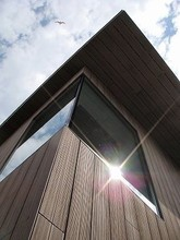 wpc wall panels for modern prefab house/decorative wood composite siding