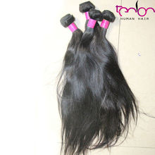 virgin wholesale price machine make weft straight hair fusion