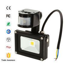 solar led flood light bar 10w with pir motion sensor