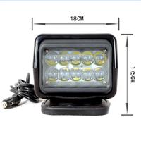 High quality Car Motorcycle black square 50w/10pcs*5w spot LED headlight