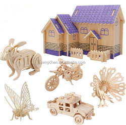 2015 Hot Sale Promotional Gifts Wooden 3D puzzle,Educational puzzle toy, 3D Wooden Puzzle