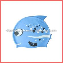 double use silicone swimming cap for long hair