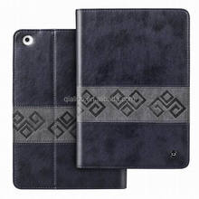 2015 Hot sale high quality Retro vintage with sleep and wake up function stand smart flip PU leather case for ipad mini