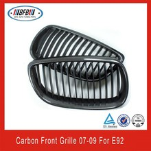 BLACK CARBON FRONT UPPER CENTER HOOD GRILL For BMW E92 04-08