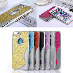 Star Bling for iphone 6s case, shining back for iphone 6s metal case