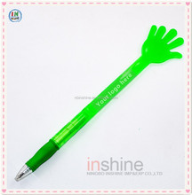 Hand shaped plastic twist advertising pen for promotion , Fancy long ballpoint pen