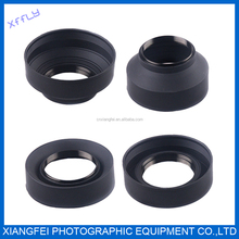 Hottest 3 in 1Three Function Rubber Lens Hood for Nikon D3100 D3000 D5100D 5000 D7000 D7100