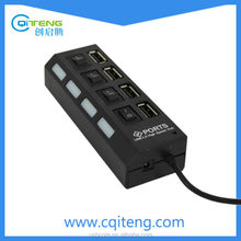 4 Ports USB 2.0 Hub With Separate ON/OFF Switch USB Hub With Power Switch