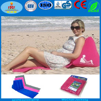 Inflatable wicked wedge beach lounge chair