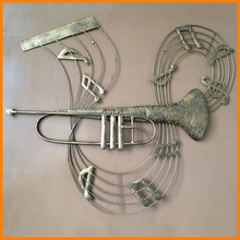 New Arrival European style metal crafts Iron Wall trombone music cheap wholesale jewelry crafts