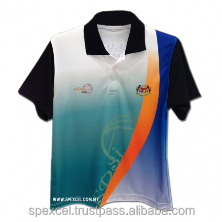Microfiber sublimation printing t shirt polo custom for Full size t shirt printing