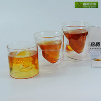 Personalized High Transparency Double Walled Skull Shaped Borosilicate Wine Glass