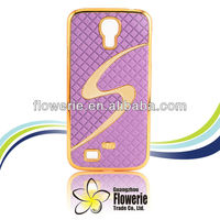 FL211 2013 factory supply honeycomb New S- Line Luxury Designer Leather Chrome Hard Back Case For Samsung Galaxy S4 i9500