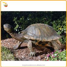 Life Size Animal Statue Bronze Garden Tortoise Sculpture For Decor