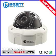 New Product Security System Night Vision Vandal -proof Camera 2.0 Megapixel IR IP Camera (BS-IP37L)