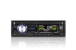 Single-din fixed panel car radio with sim card fm transmitters with AM/FM/USB/SD/AUX In