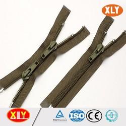 Zipper factory wholesale nylon teeth two way nylon zipper with open end