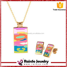 High quality jewelry set pendant necklace and stud earring sets