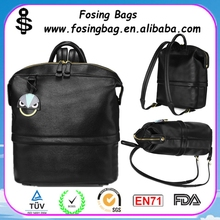 European style big magician fashion hit color shoulder pattern backpack leather wholesale to be customized