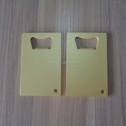 Fashion blank matte gold/copper business card sized beer bottle opener