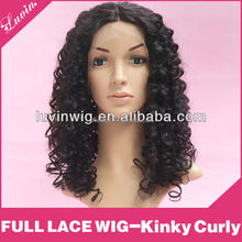 Glueless Full lace Human hair wigs for black women with Baby hair