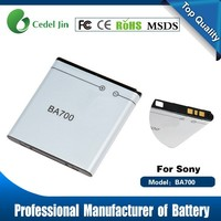 gb t18287 200 mobile phone battery for sony ericsson , BA700 rechargeable battery fan